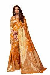 Yellow Fancy Silk Sarees