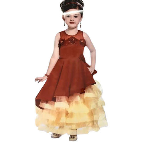 0b070d3b0 Multicolor Baby Girls Party Wear Gown