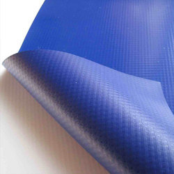 Blue Knitted, Woven Laminated Tarpaulin, Packaging Type: Roll, For Multi-purpose Cover