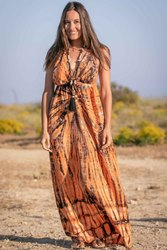 Tie Dye Long Maxi Dress