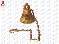 Temple Bell With 4 Ganesh & Chain
