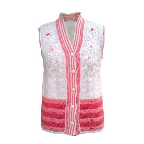 d50b284cd056 V-Neck Party Wear Ladies Half Sleeve Cardigan