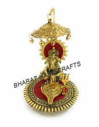 Golden Plated Shivling Ganesh