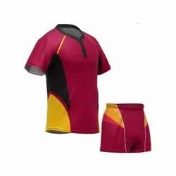 Polyester Half Sleeve Rugby Clothing