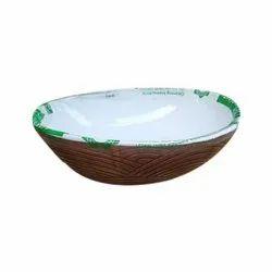 Round Designer Table Top Ceramic Wash Basin, 605 X 455 X 200 Mm