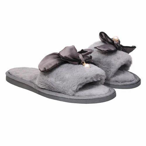 a608d6777 Casual Wear Grey Women Fur Slippers, Rs 235 /pair, RD Fashion Freak ...