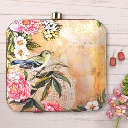 Nature Print Box Clutch