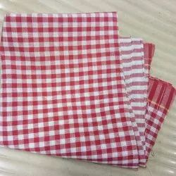 Benz Knitting White Checked Cotton Towel, Packaging Type: Packet