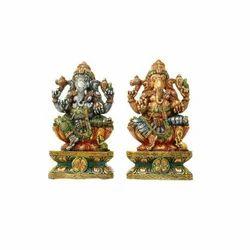 Colorful Wood Ganesha