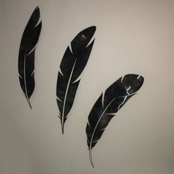 Burhani Signages Metal Feather Wall Arts