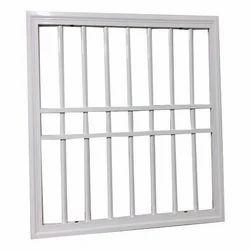White Steel Decorative Window Grill