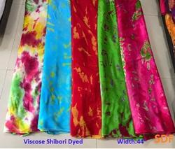 Viscose Crepe Shibori Dyed Fabric