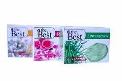 The Best Bath Soap (Jasmine, Rose, Lemongrass), Pack Size: 100 gm