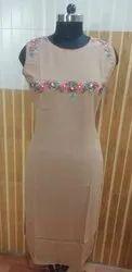 2132 Gentleman Jacquard Multi Kashmiri Work Embroidered Sleeveless Kurti