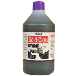 Gold Class 500 ml Violet Stamp Pad Ink