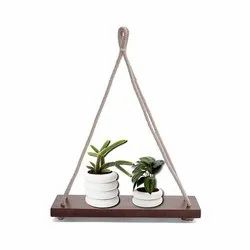 Wooden Hanging Plant Holder Wall Decor