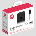 Black Motorola Turbopower 15 Mobile Wall Charger Micro-usb Cable Sj5973ap1