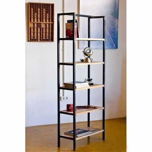 Wooden Iron Brown Modern Bookshelf Rs 9000 Piece Indian