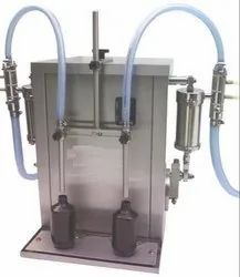 Semi Automatic Two Head Rotary Filling Machine