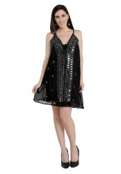 Viscous Beading Party Wear Tops