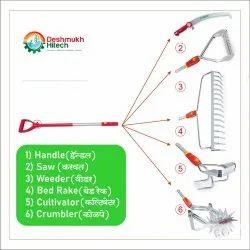 Aluminium Handle Handle 120cm Garden Hand Tools Set, For Gardening, Handle Length: 120 cm