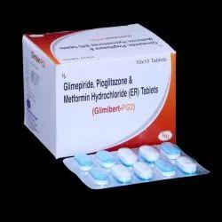 Glimepiride 2mg,Metformin 500mg & Pioglitazone 15mg Bilayered Tablets