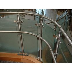 Stainless Steel And Glass Bar Steel Railings