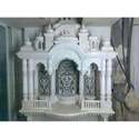 White Inlay Work Marble Big Indoor Temple, Size: 3-5 Feet Height