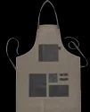 Gray Canvas Leather Apron