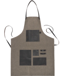 Plain Handmade Gray Canvas Leather Apron, for Everywhere, Model: 120