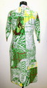 IS 01T Green Geometric Print Cotton Kurtis