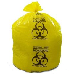 Yellow HDPE Biodegradable Garbage Bag