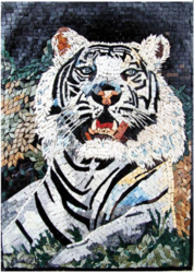 White Bengal Tiger Mural