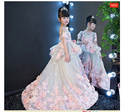b1772e89299 Stunning Princess Ball Gown Flower Girl Dress Online India ...