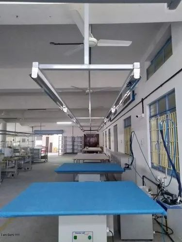 Square Pipe Ms Overhead Lighting Duct For Industrial Slotted Rs 900 Number Id 19271143997