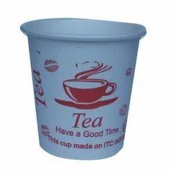 White Printed Paper Tea Cup, Capacity: 90 Ml