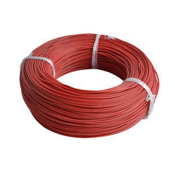Red Polex Rubber Coated Electric Wire, Packaging Type: Bundle
