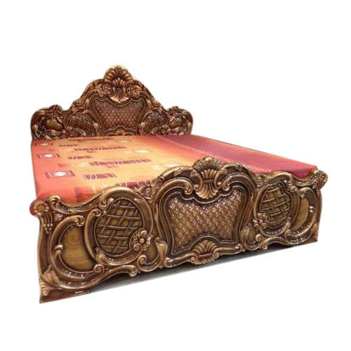 Hand Carved Double Bed Wooden, Hand Carved Furniture