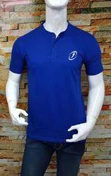 Blue Solid Prints Men T shirt