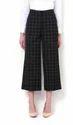 34 Check Van Heusen Black Culottes Pants