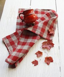Cotton Check Kitchen Napkin / Towel, Wash Type: Hand Wash