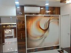 Digital Glass Sliding Wardrobe for Bedroom