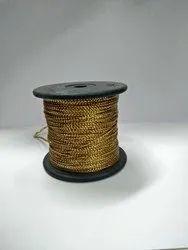 Golden Beaded Badla Dori, Packaging Type: Reel