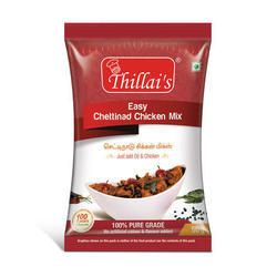 Thillais Easy Chettinad Chicken Mix, Packaging Size: 50 g, Packaging Type: Pouch
