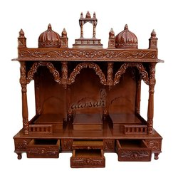 Hand Carved Traditional Wooden Temple