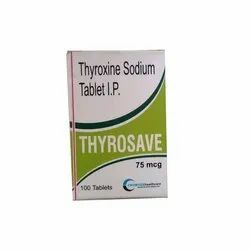 Thyroxine Sodium Tablet Ip Dosage 75 Mcg Packaging Size 10x10