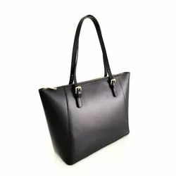 TB01 - Black Leather Side Bags