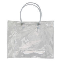 Hand Handled PVC Plastic Hand Bag, For Packaging Industry