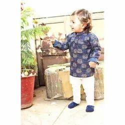 Cotton Party Wear Kids Designer Kurta Pyjama