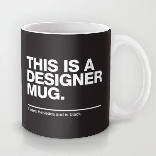 Yaara Black And White Designer Coffee Mug Usage Home Office